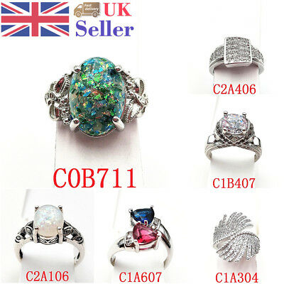Bling Fashion Women Ring Set Creative Zircon Romantic Cool Finger Jewelry Gifts
