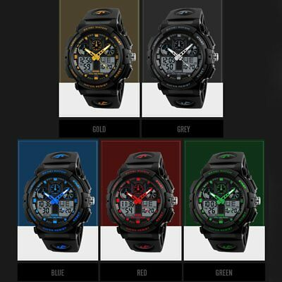 SKMEI 1270 Dual Display Digital Waterproof Men Sports Watches With Backlit T1