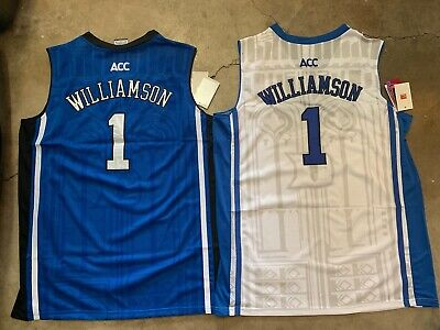 9055da8d1d7a Elite Zion Williamson  1 Duke Blue Devils Men s Basketball Stitched Jersey  NWT