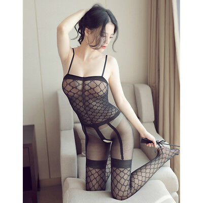 1PC Women Sexy Sleepwear Stockings Mesh Perspective Floral Sexual Erotic Costume