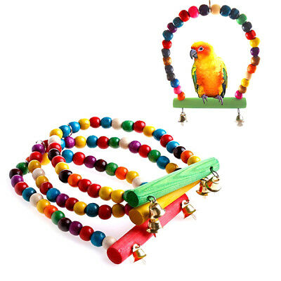 Pet Bird Swing Parrot Parakeet Budgie Cockatiel Cage Hammock Toys Hanging Toy 9H