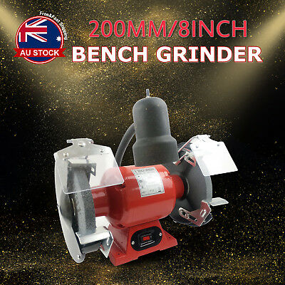 "8"" Bench Grinder 350W 200mm Knife Sharpener Power Tool Industrial Grinding O"