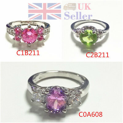 Simple Zircon Ring Rhinestones Fashion Vintage Flower Engagement Wedding Party