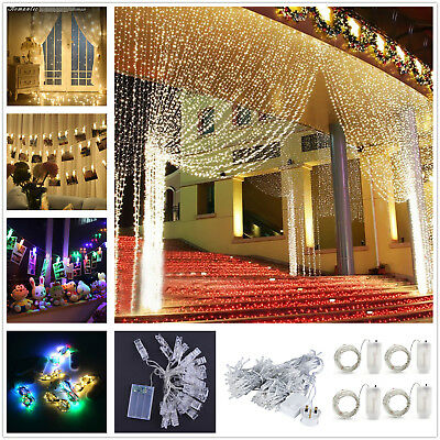 Led String Fairy Lights Indoor/Outdoor Garden Curtain Christmas Party Wedding UK