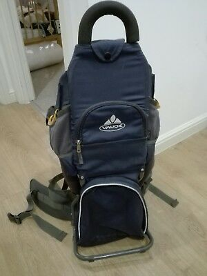 Vaude baby carrier - navy blue, in very good used condition.