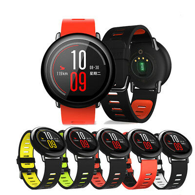 22mm Silicone Strap for Xiaomi Huami Amazfit Pace Bluetooth Sports Smart Watch