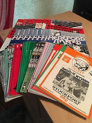 59 Hereford United Home League And Cup Football Programmes From 1979-1993