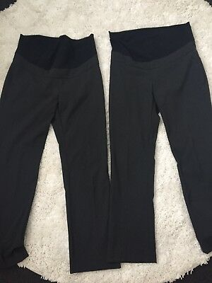 2x Identical Pairs Of Maternity Work Pants Size 8