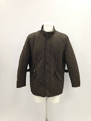 BARBOUR Green Check Classic Hip Length Coat Winter Chic Mens UK XL 421223