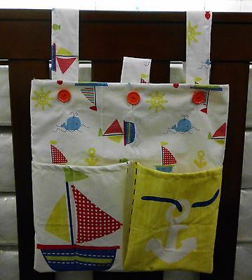 NURSERY BAG/ORGANISER TO HANG AT END OF COT Ideal to hold - WIPES,NAPPIES etc