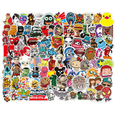 200 Skateboard Stickers bomb Vinyl Laptop Luggage Sticker Decals Dope  lot cool