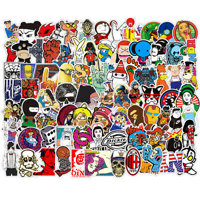 200 Skateboard Sticker bomb Vinyl Laptop Luggage Decals Dope Stickers lot cool