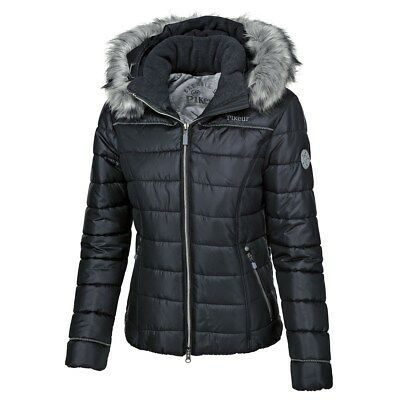 Pikeur Amal Jacket navy blue ladies fitted padded quilted coat size 36 38 40 42
