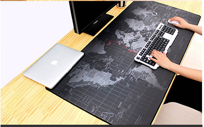Large Size mouse pad Anti-slip World Map Rubber Computer Gaming mousepad Desk