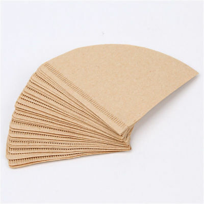 40x Coffee Paper Filter Cones Count Natural Unbleached Burlywood Replacement Set