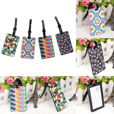 AU Creative Luggage Tags Labels Suitcase Bag Baggage Name Address ID Tag Label