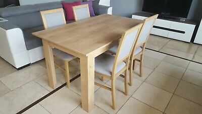 Modern Wooden Dining Table In Light Wood Colour Oak