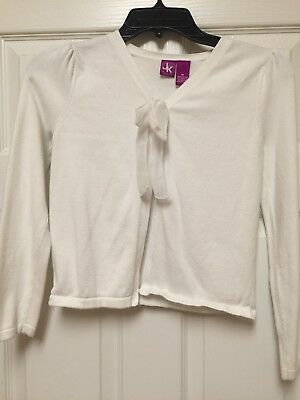 Little Girls Jk Girls White Dress Sweater Size M 425 Picclick