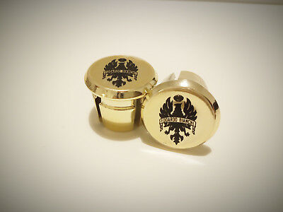new Cinelli gold Plugs Caps Topes Tapones guidon bouchons lenker endkappe Tappi