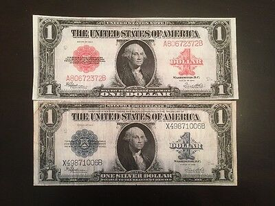 Reproducción Par 1923 de Plata Certificado & Estados Unidos Billete Washington