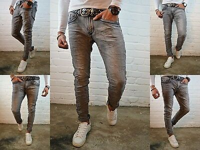HERREN BASIC CLUB STYLE YOUNG SKINNY Fashion STONEDWASHED SKINNY FIT JEANS HOSE
