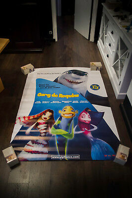 SHARK TALE 4x6 French Grande Rolled Movie Poster Original 2004