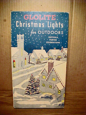 Vintage GLOLITE 7 Lamp C9 Christmas Light Set No. 907-7 Inside Color Swirl Bulbs