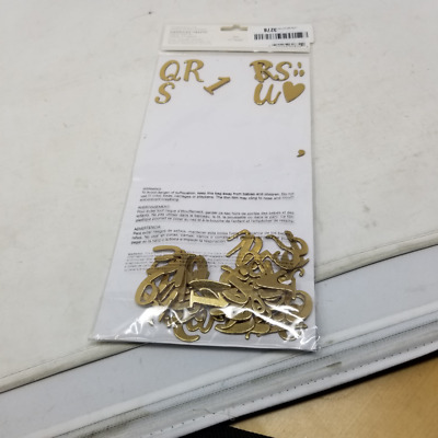 American Crafts We R Memory Keepers Crush Gold Foil Alphabet Thickers 144 Piece