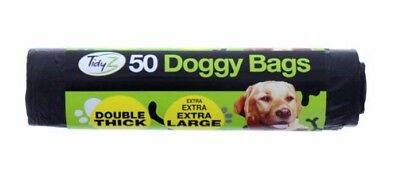 Dog Poo Bags doggy Poo Bags Extra Strong Large Thick Tie Handle Bags - UK SELLER