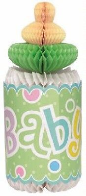 """** Green 12"""" Honeycomb Bottle Decoration Baby Shower Gender Reveal Party"""