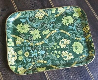 Vintage Green Floral Fibreglass Tea Serving Tray William Morris?
