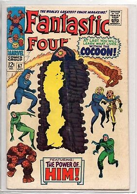 Fantastic Four #67 - 1st appearance in cameo of Adam Warlock!