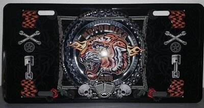 Rare plaque tôle HARLEY MOTORBIKE CLUB style EMAIL 15X30 VINTAGE 66 USA TIGRE