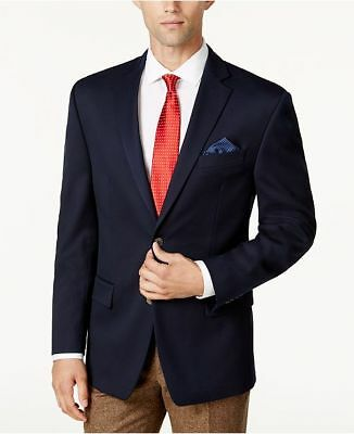$498 Michael Kors 40l Men'S Blue Stretch 2-Button Suit Jacket Blazer Sport Coat