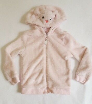 Carters Pink Toddler Girls Fuzzy Zip Up Mouse Hoodie Size 3T