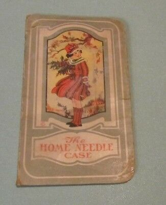 1920's Edward Wagner Coal Company Home Sewing Needle Case Duncannon PA Vintage