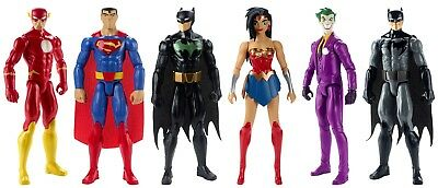 """Justice League Action 12"""" Assorted Character Figure & Batmobile"""