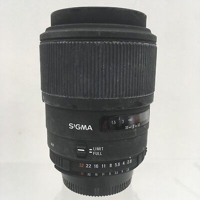 SIGMA Black EX 105mm 1:2.8D DG Macro SLR Camera Lens Nikon Mount Fit 421552