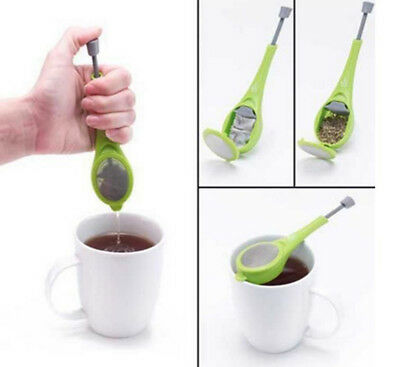 Tea Infuser Built-in plunger Healthy Intense Flavor Reusable Tea bag Plastic Tea