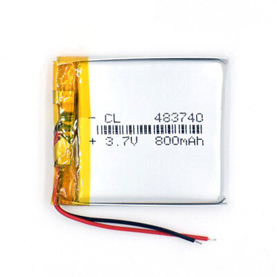 483740 3.7V 800 mAh Li-Polymer Battery Li Po Rechargeable for GPS Bluetooth