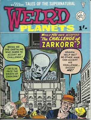 WEIRD PLANETS # 3 (Alan Class 1962) Kirby, Ditko, Heck art FINE+ condition