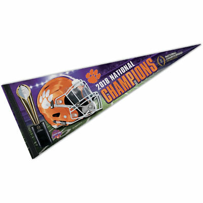 Clemson Tigers 2018 National Champions Pennant