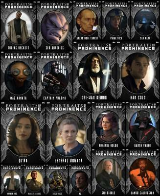 Topps Star Wars Card Trader Portraits Prominence S3 [19 CARD STEEL SET] Qira+++
