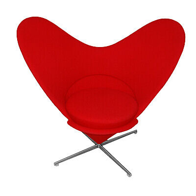"Designsessel ""Heart Cone Chair"" Verner Panton Vitra Rot"