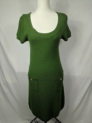 388a4ad2bf2 Ann Taylor LOFT Womens Sweater Dress Green Size S Knit Wool Small with  pockets