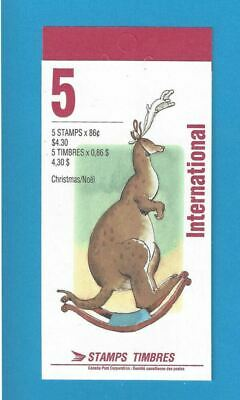 Canada 1993 Christmas Personages Scott# BK165 Booklet Of 5x86c