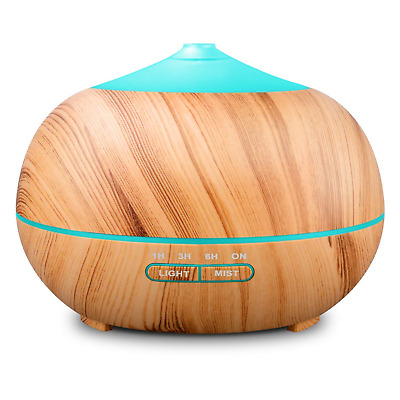 Tenswall 400ml Wood Grain Essential Oil Diffusers Ultrasonic Humidifier...