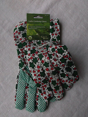 New  with Tag  Ladies Light Duty Floral Gardening Gloves  Gift ?