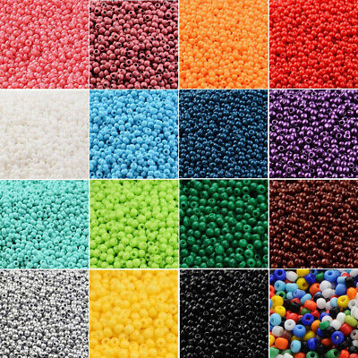 2800pcs 11/0 Glass Seed Spacer Beads Opaque Lustered Loose Spacer Multicolor