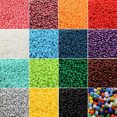 2800pcs Opaque Seed Beads 11/0 (2mm) Lustered Loose Spacer Beads Multicolor